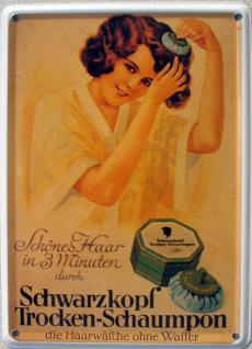 Schwarzkopf Trocken-Schaumpon Mini Blechschild