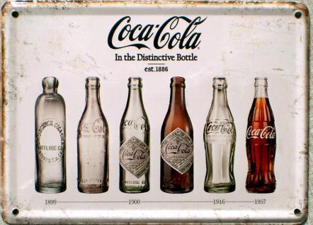 Coca Cola - In the destinctive bottle Mini Blechschild