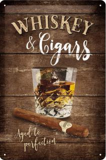 Whiskey & Cigars Blechschild