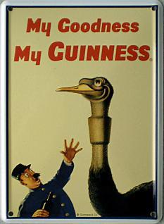 Guinness Strauss Mini Blechschild