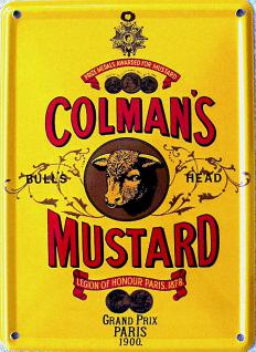 Colman's Mustard Mini-Blechschild