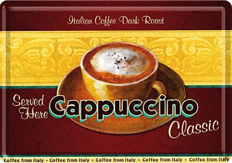 Blechpostkarte Cappuccino - Vorschau