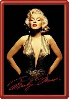 Blechpostkarte Marilyn Monroe Portrait - Vorschau