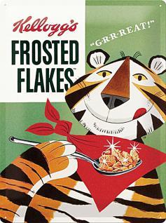 Kellogg's Frosted Flakes Tiger Blechschild - Vorschau