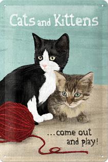Cats and Cittens Blechschild - Vorschau