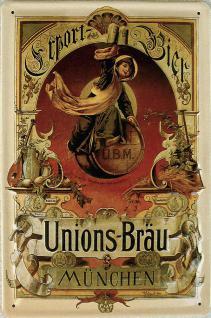 Unions-Bräu München Export-Bier Blechschild