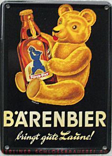 Bärenbier Mini Blechschild