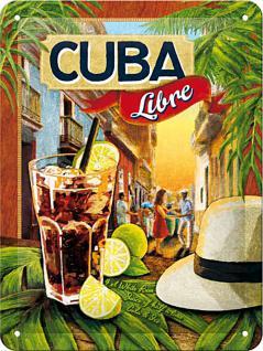 Cuba Libre Blechschild, 15 x 20 cm - Vorschau