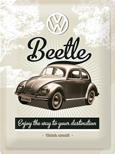 VW - Retro Beetle Blechschild - Vorschau
