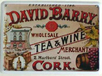 David Barry Tea & Wine Mini Blechschild - Vorschau