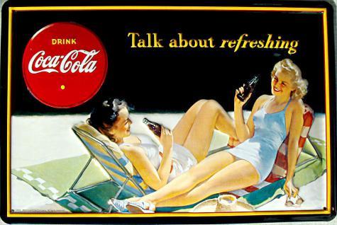 Coca Cola Talk about refreshing Blechschild