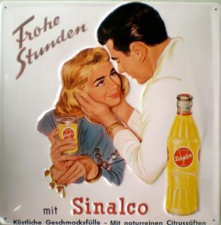 Sinalco - Frohe Stunden Blechschild, 40 x 40 cm