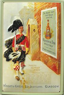Roderick Dhu Whisky Blechschild