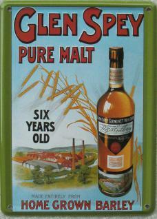 Glen Spey Malt Whisky Mini Blechschild