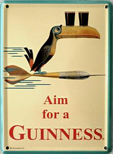 Guinness Aim for a Guinness Mini Blechschild