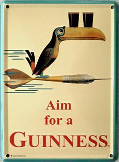 Guinness Aim for a Guinness Mini Blechschild
