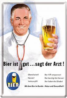 Blechpostkarte Bier ist gut - Vorschau