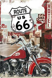 Route 66 Lone Rider Blechschild