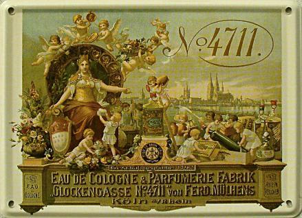 4711 Eau de Cologne Mini Blechschild