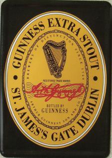 Blechpostkarte Guinness Black Label