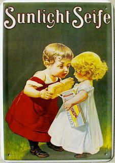Blechpostkarte Sunlicht Kinder
