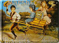 Marsh & Co Biscuits (blau) Mini Blechschild