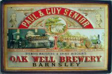 Paul & Cuy Senior Oak Well Brewery Blechschild