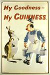 Guinness My Goodness Känguruh Blechschild