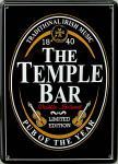 The Temple Bar schwarz Mini Blechschild