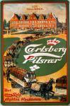 Carlsberg Pilsner Pferdegespanne Blechschild, Stahl