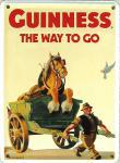 Guinness the way to go (Pferd) Mini-Blechschild