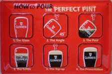 Guinness - The perfect Pint Blechschild