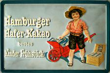 Hamburger Hafer-Kakao Blechschild