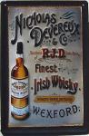 Nicholas Devereux Irish Whisky Blechschild