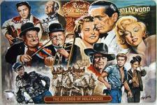 The Legends of Hollywood Blechschild