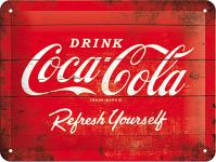 Coca-Cola - Logo red, refresh yourself Blechschild