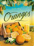 Oranges Blechschild, 30 x 40 cm