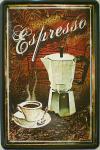 Espresso Blechschild