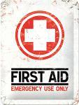 First Aid Blechschild