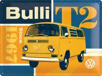 VW - Bulli T2 Blechschild, 40 x 30 cm
