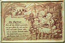 Beruf - Rentner Blechschild