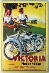 Victoria Motorräder Blechschild