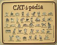 Fun-Schild Cat-i-pedia