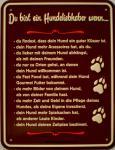 Fun-Schild Du bist ein Hundeliebhaber