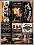 Magnet-Set Harley-Davidson Garage Babes