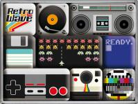 Magnet-Set Retro Wave Media