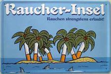 Raucher-Insel Blechschild