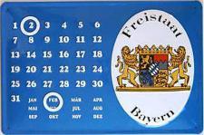 Freistaat Bayern Kalender Blechschild