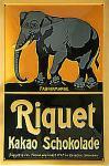 Riquet Elefant Blechschild