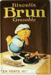 Biscuits Brun Blechschild